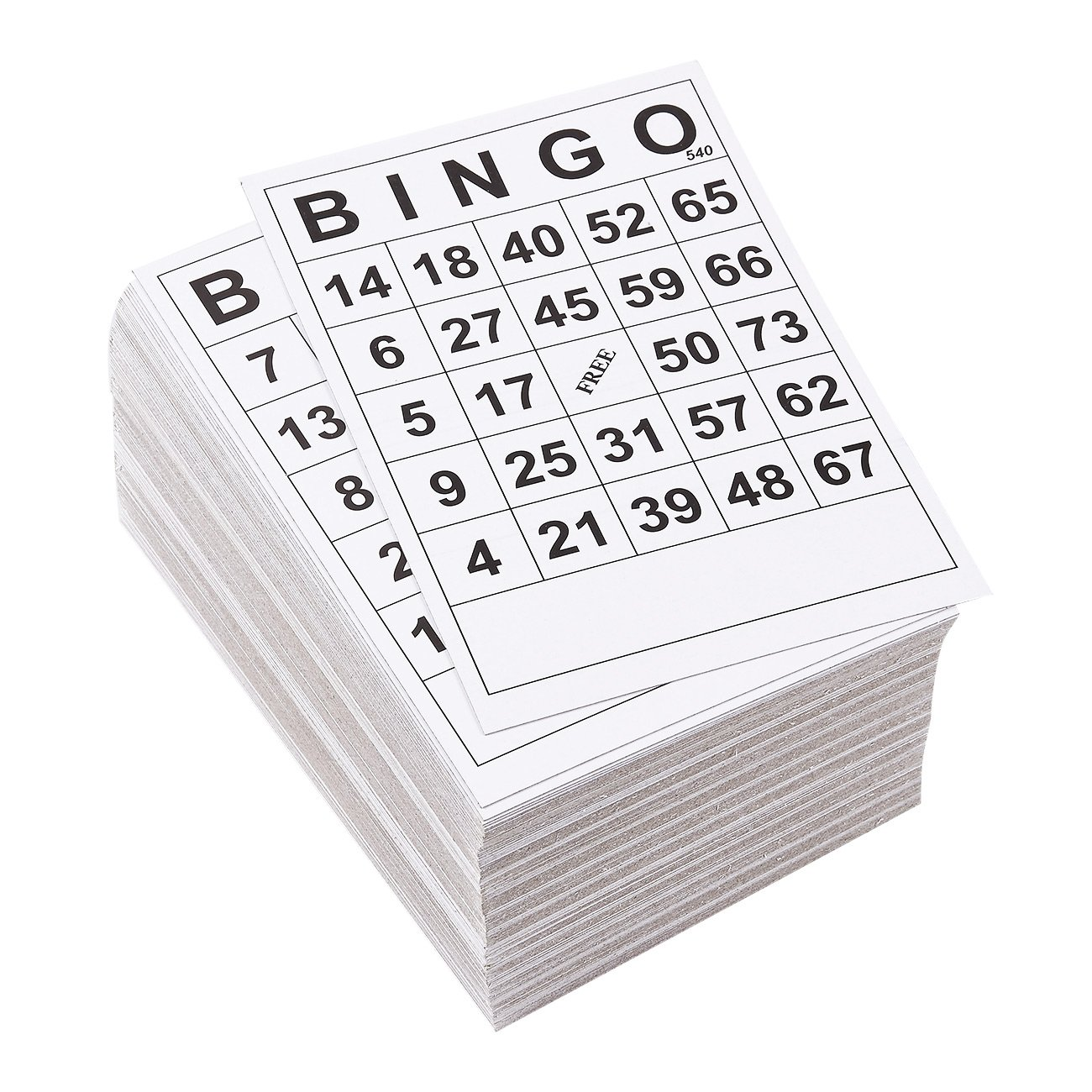 Juvale Bingo Cards 180 Pack Disposable