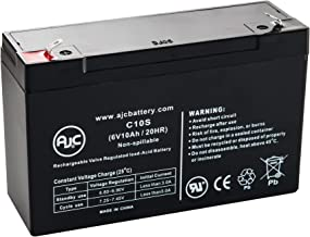 Chloride 6V10.0AH 6V 10Ah Emergency Light Battery - This is an AJC Brand Replacement