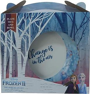 Disney Frozen 2 - Kids Ceramic Tableware - 3 Pieces Breakfast Set, TRHA4160