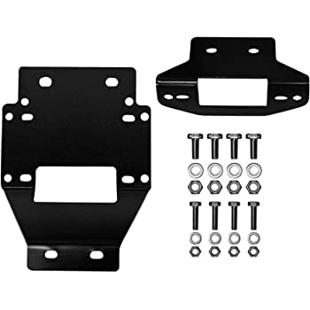 Winch Included! - SuperATV 5000 lb 2011-2014 SuperATV Heavy Duty Winch Mounting Plate for Polaris RZR XP 900//4 900