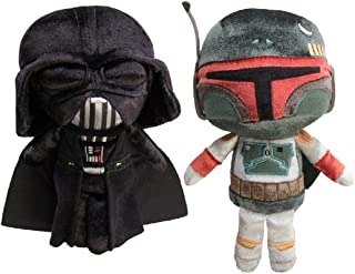 Darth Vader and Boba Fett Star Wars Funko (Set of 2) Galactic Plushies Cute Stuffed Animals Star Wars Toys For Kids and Adults
