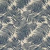 Fabulous Fabrics Dekostoff Halbpanama Palme 2 – Navy —
