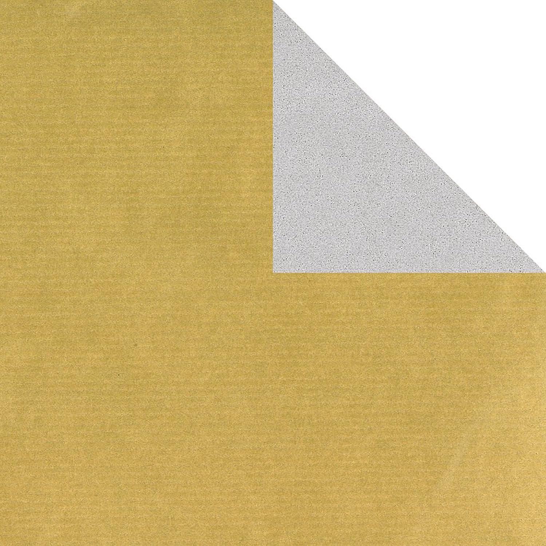 Geschenkpapier Rolle 2-seitig Gold silber 50cm x 250m B00GHG4GHY | Wirtschaft