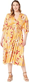 Womens Plus Size Mid Length Caftan Dress