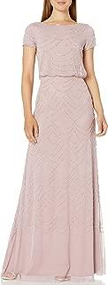 Women's Short Sleeve Beaded Blouson Gown