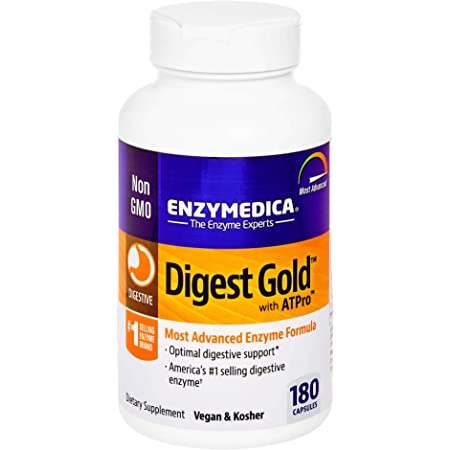 Enzymedica, Digest Gold + ATPro, Digestive Enzymes, 180 Capsules (FFP)