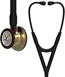 3M Littmann Cardiology IV Diagnostic Stethoscope, Brass-Finish Chestpiece, Black Tube, Stem and Headset, 27 Inch, 6164