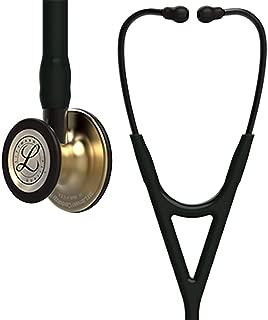 3M Littmann Cardiology IV Diagnostic Stethoscope, Brass-Finish Chestpiece, Black Tube, Stem and Headset, 27 inch, 6164