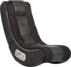 Ace Bayou X Rocker 2.1 Sound V Rocker SE Wireless Foldable Video Gaming Floor Chair with 2 Speakers and Subwoofer - Black, 5130301