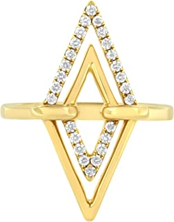 Antandre Womens 14K Yellow Gold 1/5ct TDW Diamond Cocktail Ring
