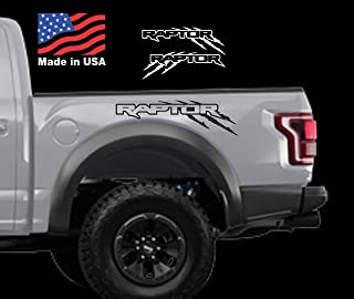 Ford F150 Raptor SVT bed Side OUTLINE claw Scratch graphics decal sticker Set