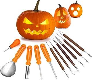 Boxgear Halloween Pumpkin Carving Kit - Stainless Steel Decorating Tools with Wood Handles - Jack O Lanterns Sculpting Set...