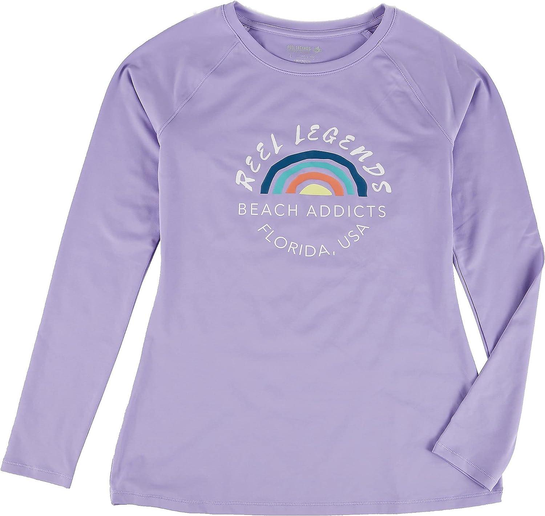 Reel Legends Womens Beach Addicts Rashguard X-Large Lilac