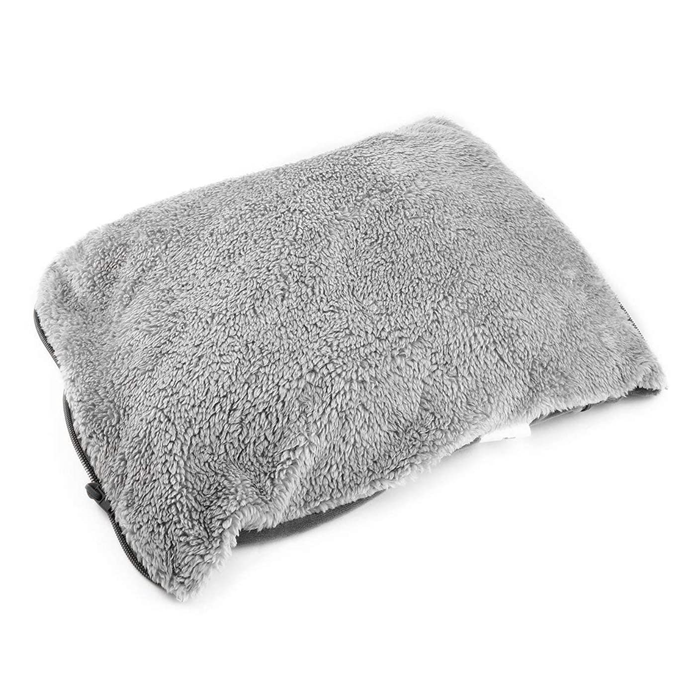 代わりにペルーペルーシンプルなデザインのUSB充電冬のハンドウォーマー実用的な快適な柔らかい電気暖房暖かいパッドクッション最高の贈り物 - グレー