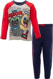 Disney Puppy Dog Pals Rolly Bingo Toddler Boys' Fleece T-Shirt & Pants Set