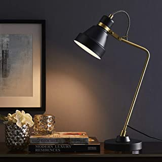 ARPENTER Modern Table Reading Desk Lamp for Bedroom, Living Room, Study, Office, 100% Metal Bedside Nightstand Lamp, 22