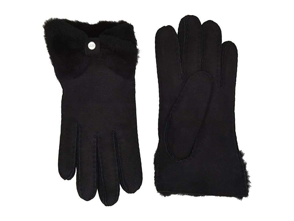 Vintage Style Gloves- Long, Wrist, Evening, Day, Leather, Lace UGG Bow Shorty Water Resistant Sheepskin Gloves Black Extreme Cold Weather Gloves $154.95 AT vintagedancer.com