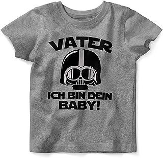 Mikalino Baby/Kinder T-Shirt mit Spruch für Jungen Mädchen Unisex Kurzarm Vater - ich Bin Dein Baby!   handbedruckt in Deutschland   Handmade with Love