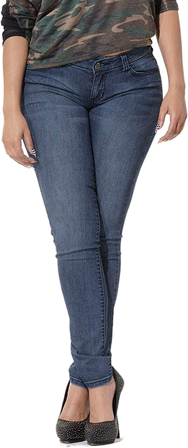 Poetic Justice Women's Curvy Be super welcome Price reduction Fit Blue Midrise Pockets Denim Five