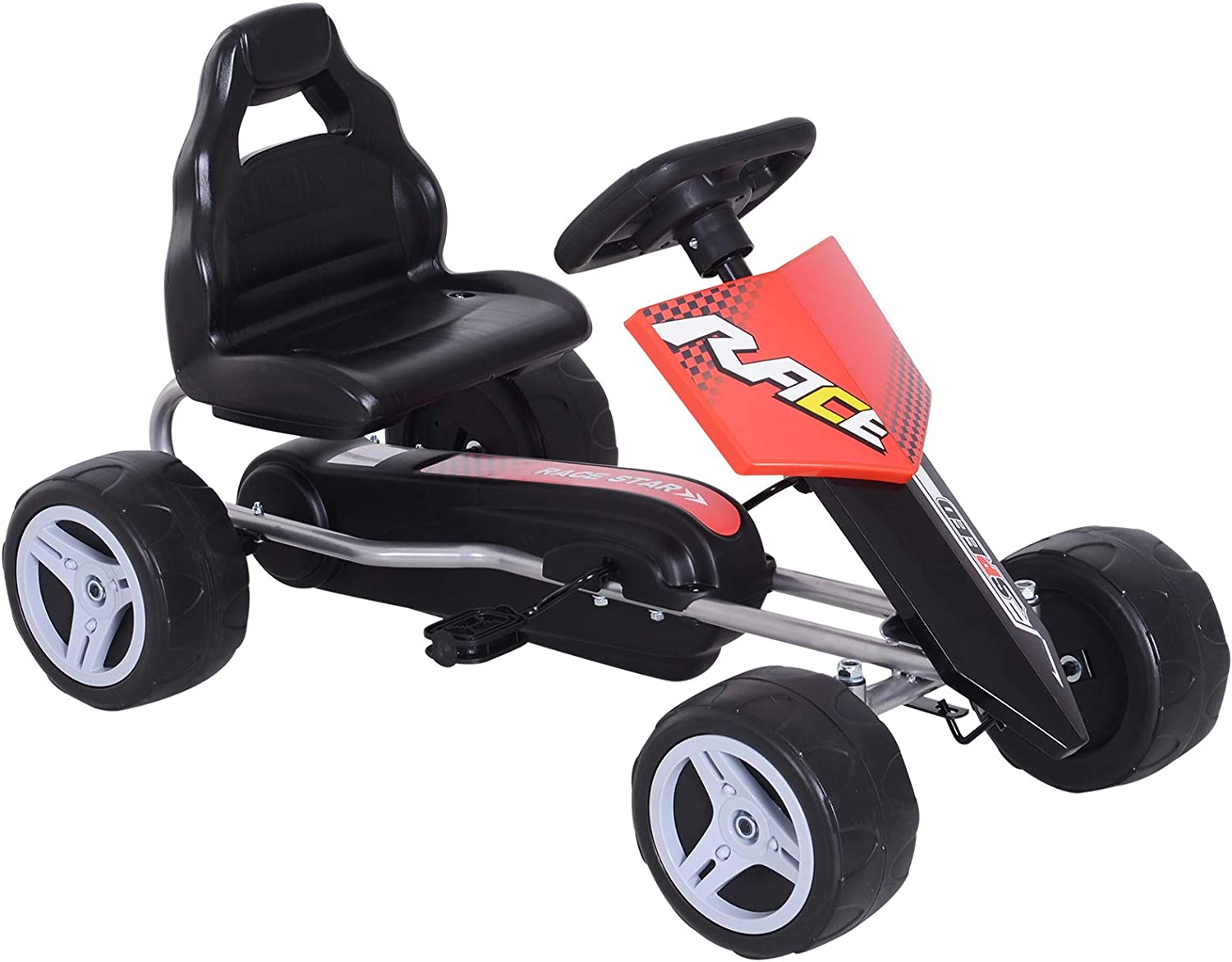 Aosom Sales results No. 1 Kids Go Kart 4 Wheeled Ride Cheap mail order shopping On Racer Pedal Car for Boys