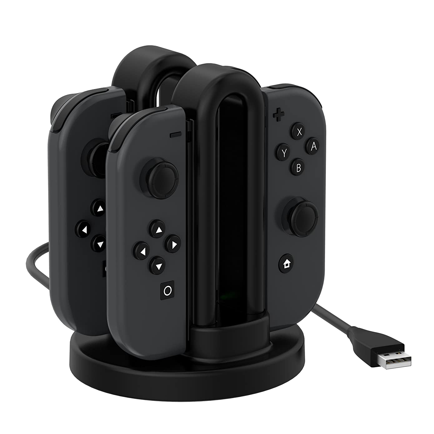 Switch Joy-Con Charger, Fitian Charging Dock Cable Charge Stand Station for Switch Joy-Con