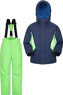 comprar comparacion Mountain Warehouse Conjunto de esquí con Chaqueta y Pantalones para niños - A Prueba de Nieve, Bolsillos Delanteros, Forro...