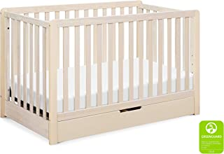 Carter's by Davinci Colby 4-in-1 Convertible Crib with Trundle Drawer in Washed Natural | Greenguard Gold Certified