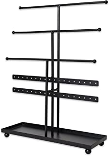 Home Traditions Tree Tower with Modern Look and Jewelry Organization, Black, Jewelry Tower