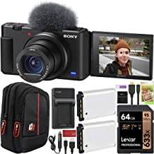 Sony ZV-1 Compact Digital Vlogging 4K HDR Video Camera for Content Creators & Vloggers DCZV1/B Double Battery Bundle with ...