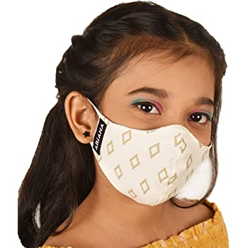 ARiANA DuoSafe Kid's Very Fine Cotton Face Mask (Small 4-6 Years, Mixed Designs and Colours)