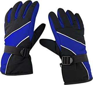 Snow Gloves - Black & Blue - Warm - Outdoor - Cold Weather Winter Sports Snow Gloves - by TRIXES