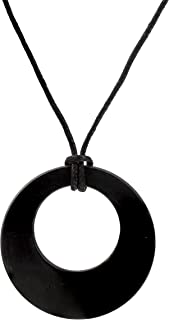 Heka Naturals Shungite Pendant Necklace, EMF Protection Pendant | Shungite Jewelry is Trendy and Used for Chakra and Energy Balancing