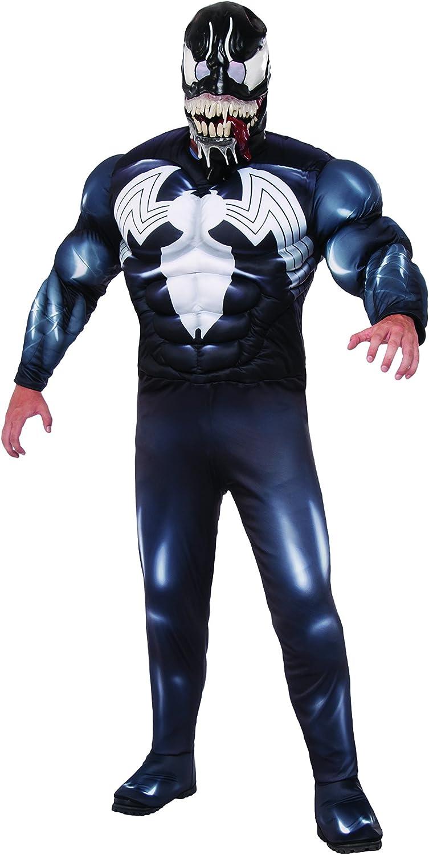 Venom Black Spider Man Men's Chest Deluxe Muscle Costume latest Popular product