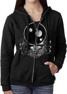 Women's Grateful Space Dead Full Zip Hoodie Jackets Black