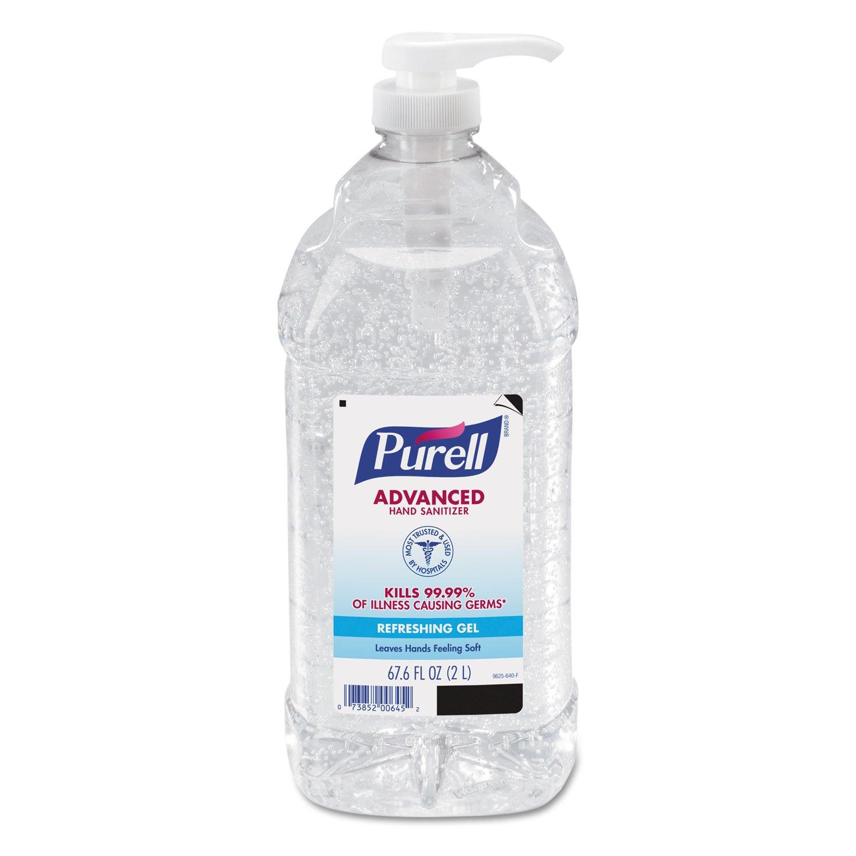 퓨렐 어드밴스드 병원용 손세정제 2L 4팩, 우한 신종 코로나 바이러스 예방 PURELL 962504CT Advanced Instant Hand Sanitizer, 2-liter Bottle, 4 per Carton