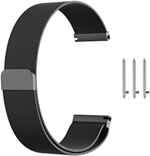 Gear S3 Band,Galaxy Watch (46mm) Bands,22mm Milanese Loop Stainless Steel Strap Wrist Replacement Band for Samsung Gear S3...