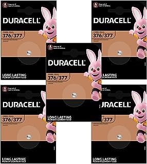 Duracell Knopfzelle Silberoxid Uhrenbatterien (SR626/377/SR66) (5 Stück)