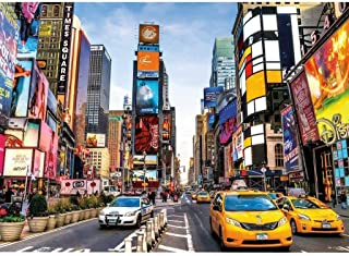Puzzle 1000 Piece Jigsaw Puzzle for Kids Adult –Time Square Jigsaw Puzzle,New York Scenery Jigsaw Puzzle,Adults Kids Mini Puzzle Game,Home Decoration