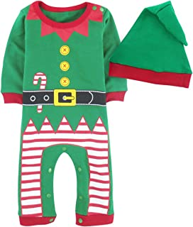 A&J DESIGN Baby Christmas Costume Romper with Hat