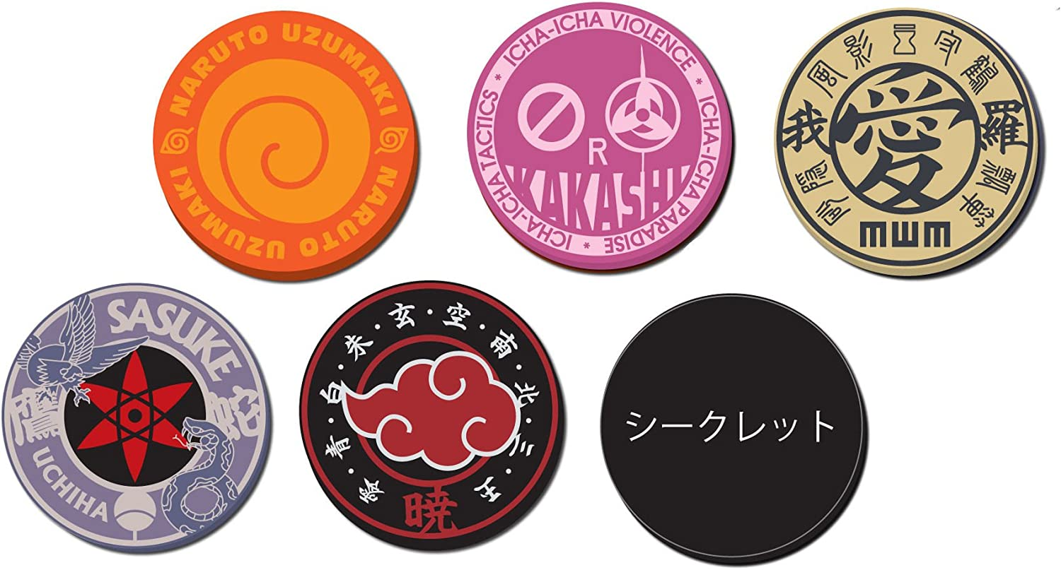 NARUTO Shippuden rubber coaster set of 6 all BOX (japan import)