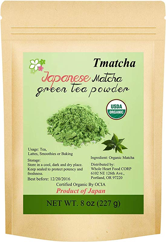 CCnutri Matcha Green Tea Powder 8oz USDA Organic Japanese Matcha Culinary Grade