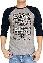 UD Gate Guns N Roses GNR Old November Rain Whiskey Baseball 3/4 Sleeve Men's T Shirt