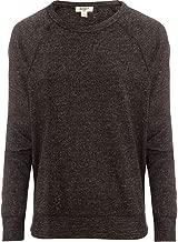 Dylan by True Grit Womens Marled Sweater Fleece Long Sleeve Vintage Raglan