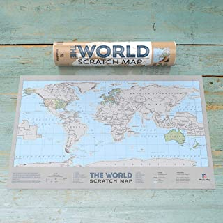 The World Scratch Off map
