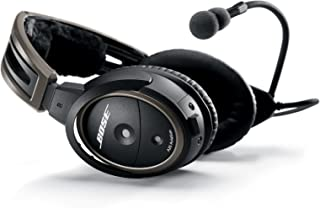 Bose Headset A20 Aviation with Standard Dual Plug Cable, Black