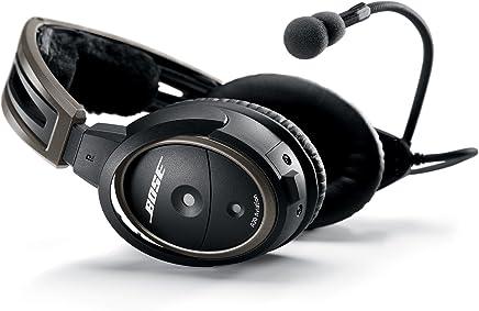Auriculares de aviación Bose A20 con cable de enchufe con Bluetooth Negro