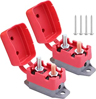 2pcs 12V/24V 30A Automatic Reset Circuit Breaker with Cover Stud Bolt Type for battery chargers, trucks, buses, electric cars, car engines, etc