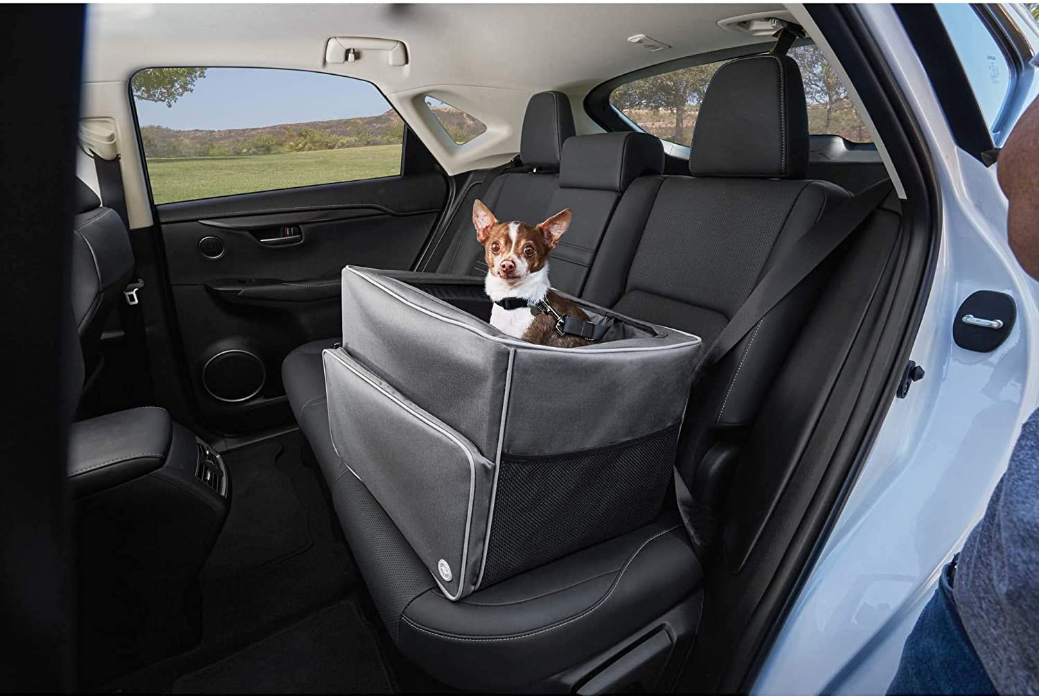 Petco Brand - Good2Go Auto Booster Seat 13 Large special price in Gray 17 W x H Quality inspection