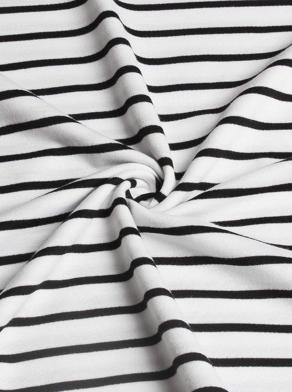 Cyanstyle Womens Striped Spliced Hoodie Double Hooded Sweatshirts Tunic Tops