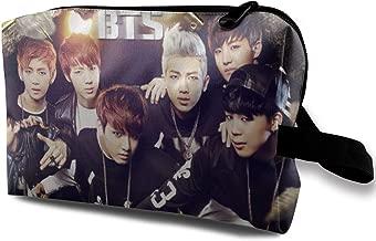 BTS Monster JIN SUGA Jimin V Travel Makeup Toiletries Bag Girls Womens Cosmetic Organizer Storage Bags